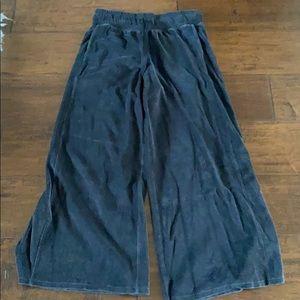 Lululemon dark gray velour flare pants